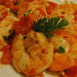 Shrimp Scampi and Tomato Broil