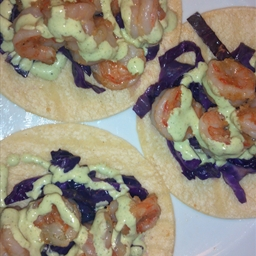 Shrimp Tacos with Creamy Cilantro dressing