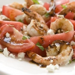 Shrimp, Watermelon and Goat Cheese Salad
