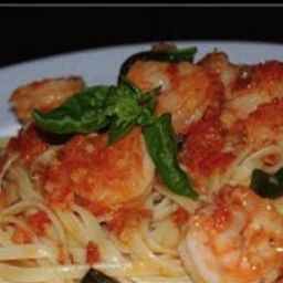 Shrimp with Basil-Garlic Butter