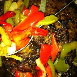 Sizzling Steak with Roasted Vegetables