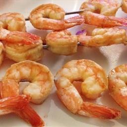 Skewered Shrimp Dijon