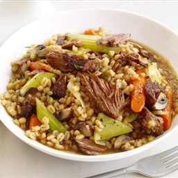 Slow-cooker Beef and Barley