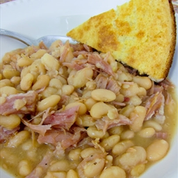 Plain Chicken's Slow Cooker Ham and White Beans