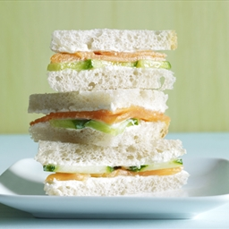 Smoked Salmon & Wasabi Mayo Sandwiches