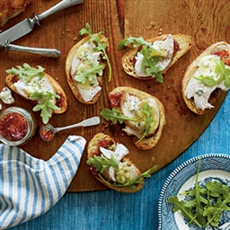 Smoked Turkey-Blue Cheese Open-Faced Sandwiches