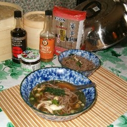 Soba in Chicken Broth