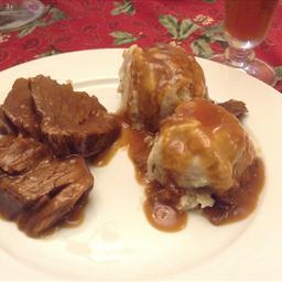 Sour Beef and Dumplings (Sauerbraten)