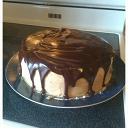 Sour Cream-chocolate Cake with Peanut Butter Frosting and Chocolate-peanut