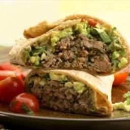 Southwestern Beef & Bean Burger Wraps