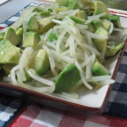 Soya Sprouts Avocado Salad
