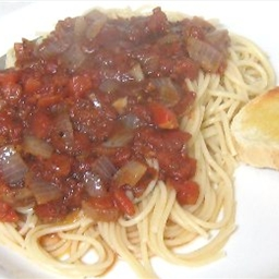 Spaghetti With Balsamic Tomato Sauce