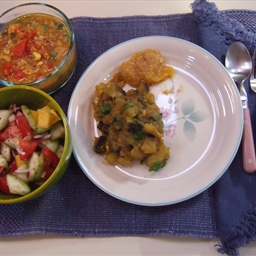 Spicy Eggplant and Potato Curry