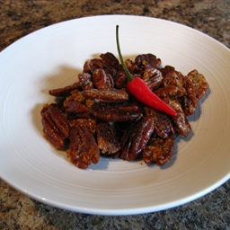 Spicy Glazed Pecans