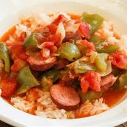 Spicy Mini Peppers & Sausage With Rice