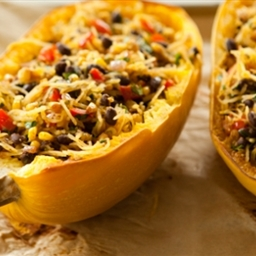 Spicy Spaghetti Squash with Black Beans
