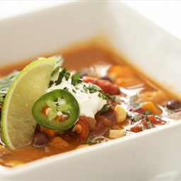Spicy Sweet Potato and Black Bean Soup