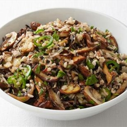 Spicy Wild Rice with Mushrooms