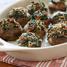Spinach and Bacon Stuffed Mushrooms