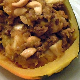 Squash Acorn Halves W/ Apple Beef Filling