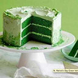 St. Patrick's Day Green Velvet Layer Cake