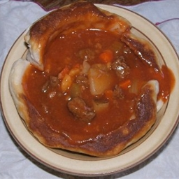Steak Stew Bread Bowl