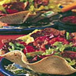 Stir-Fried Beef Salad in Tortilla Cups