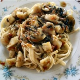 Stir-fried Scallops with Pasta