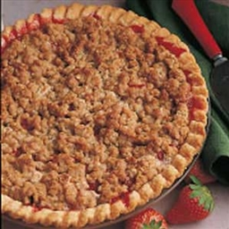 Strawberry/Rhubarb Crumb Pie