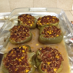 Stuffed bell peppers by ogpickle