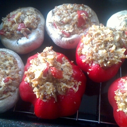Stuffed Mushrooms and Peppers