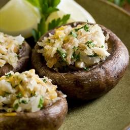 Stuffed Mushrooms with Artichoke & Fig (Vegetarian)