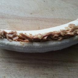 Stuffed peanut butter banana
