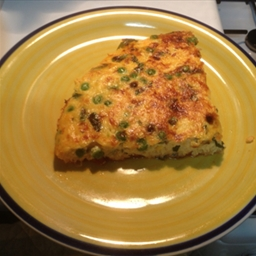 Sweet Corn and Pea Frittata