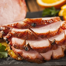 Sweet Orange Glazed Baked Ham