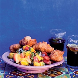 TasteMag: Corn Fritters with Mango Salsa