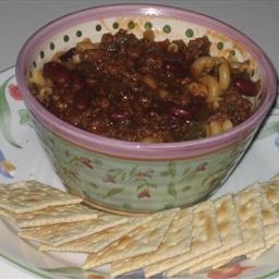 Tasty homemade chilli