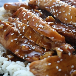 TERIYAKI CHICKEN with Asian flavored quinoa