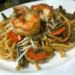 Teriyaki Shrimp Pasta