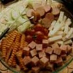 Tex-Mex Cheese Fondue with Turkey