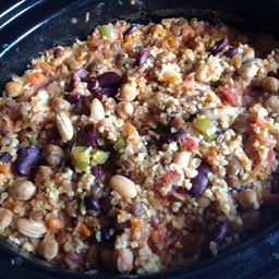 Three Bean Chili with Bulgur