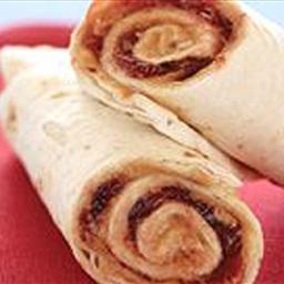 Tim's PB&J Tortilla Roll Ups