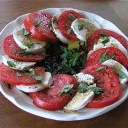 Tomato and Spinach with Mozzarella