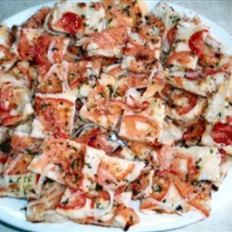 Tomato Onion Phyllo Pizza