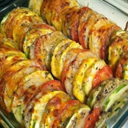 Tomato-Potato-Zuchinni-Summer Squash Casserole