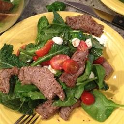 Top Sirloin Strip Salad Caprese Salad