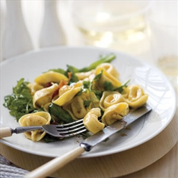 Tortellini with Bacon, Greens and Brown Butter