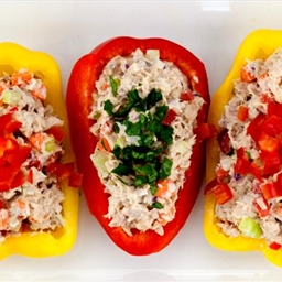 Tuna Salad in Bell Pepper Boats