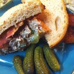 Turkey and Bacon Salad Sandwich