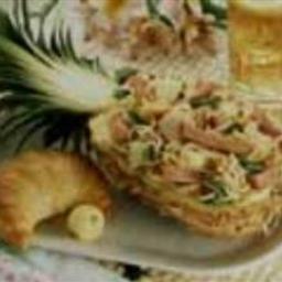 Turkey Ham and Pineapple Boats